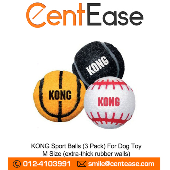 Harga KONG Sport Balls (3 Pack) For Dog Toy - M Size (extra-thick rubberwalls)