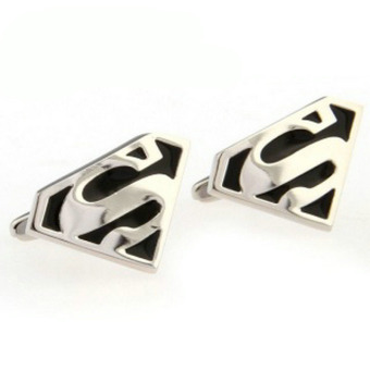 Harga The Linked Cuff Superman (Black) Cufflinks