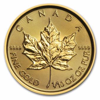 Harga 2016 Canadian Maple Leaf 1/10 oz Gold Coin