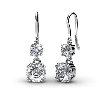 Harga Snowman Hook Earrings (White) - Crystals from Swarovski®