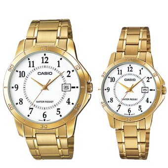 Harga Casio Couple Stainless Steel Watch LTPV004G-7B MTPV004G-7B