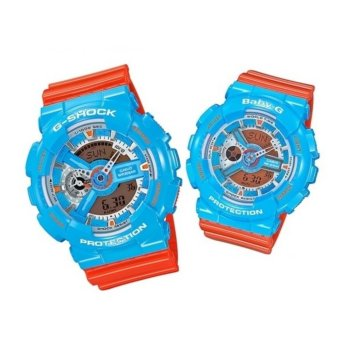 Harga Casio G-Shock and Baby-G Couple Watch GA-110NC-2A & BA-110NC-2A