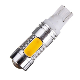 Car Amber Yellow 5 LED COB SMD 11W T10 W5W High Power Wedge Side Light Bulb Lamp