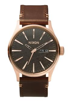 Harga NIXON SENTRY LEATHER RG/GUNMETAL/BROWN