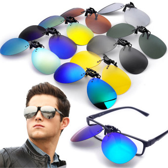 Harga Teamtop Polarized Clip On Sunglasses Lens Fishing Night Driving UV400 Night vision Yellow