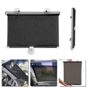 Harga 1PC 58cm*125cm Auto Retractable Side Window Car Sun Shade Curtain Mesh Visor Shield - intl