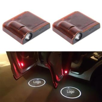 Harga 2PCS LED Ghost Shadow Light, Car Door LED Laser Welcome Decorative Light, Display KIA K5 Car Brand Logo(Red) - intl