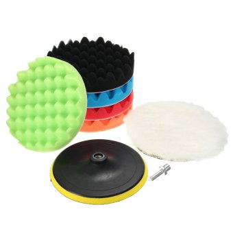 Harga 7Pcs 7inch Sponge Polishing Waxing Buffing Pads Kit Set For Car Polisher Buff - intl