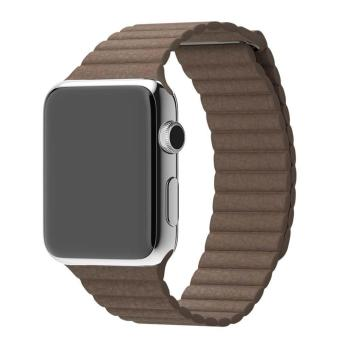 Genuine Leather Loop Watch Band Strap Magnetic Buckle For Apple Watch 42mm B