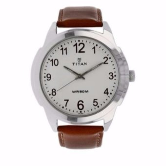 Harga Titan Classique White Watch with Plain 3 Hands (White)