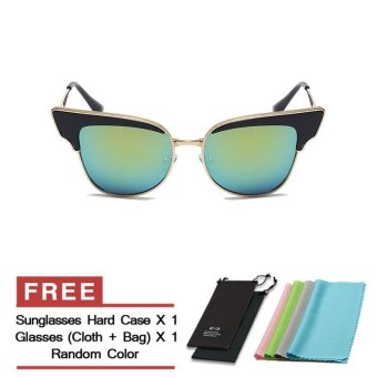 Harga Sunglasses Women Cat Eye Sun Glasses Gold Color Brand Design (Intl) - intl