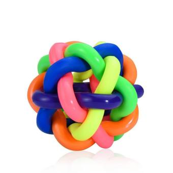 Harga Giggle Ball Dog Toy Colorful Dog Ball with Bell Pet Smarter Interactive IQ Toys(7.5cm) - intl