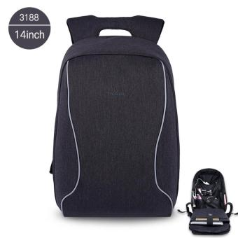 Harga Tigernu Brand 14 Inch Laptop Bags Fashion Anti-Theft Men 's Business Backpack T-B3188(Black Grey)