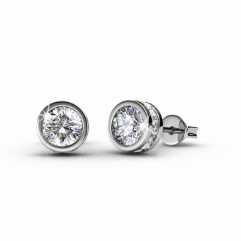 Harga Glam Solitaire Earrings - Crystals from Swarovski®
