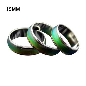 Harga Kids Adult Magic Temperature Emotion Feeling Mood Ring Band+Color Changing Chart - intl