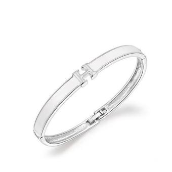 Harga Women Fashion Genuine Platinum H Bracelet - intl