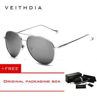 VEITHDIA Brand Fashion Sun Glasses Polarized Coating Mirror Driving Sunglasses Oculos Male Eyewear For Men/Women 3360(Silver silver)[ Buy 1 Get 1 Freebie ]