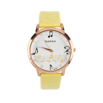 Harga Allwin New Fashion Designed Exquisite Boutique Music Score Quartz Wrist Watch (Intl)