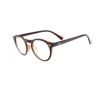 Harga Fashion Glasses Frame Vintage Retro Round Glasses Brown Frame Glasses Plastic Frames Plain for Myopia Men Eyeglasses Optical Frame Glasses Oculos Femininos Gafas - intl