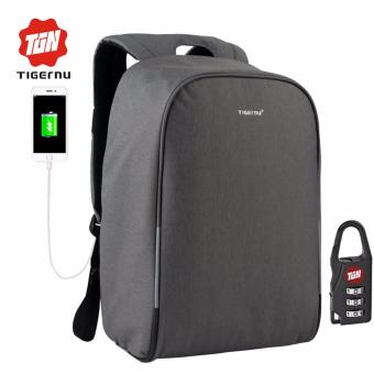 Harga Tigernu Waterproof Anti-theif Laptop Backpack fit for 12-15.6inches Laptop with USB Charging Port3213 (dark grey)