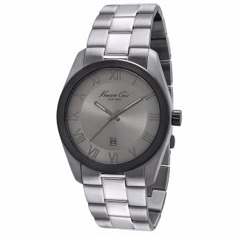 Harga Kenneth Cole - Grey Stainless Steel Bracelet Watch + Grey Dial (IKC9223)
