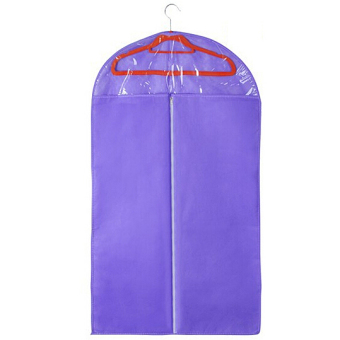 Harga Garment bag/Clothes dust cover/suit cover/Suit storage bag dust proof cover L (Purple)