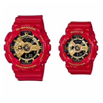 Harga Casio G-Shock and Baby-G Pair Watch GA-110VLA-4A ,BA-110VLA-4A - intl