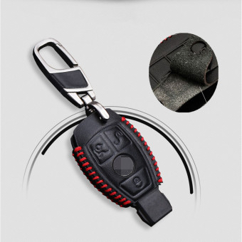 Harga Leather Smart Car Key Case Cover For Mercedes Benz W203 W210 W211 AMG W204 C E S CLS CLK CLA SLK Classe Car Styling - intl