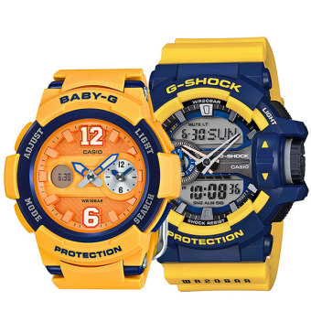Harga Baby-G & G-Shock Couple Watches BGA210-4B / GA400-9B