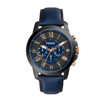 Harga Fossil Grant Chronograph Blue Leather Watch FS5061