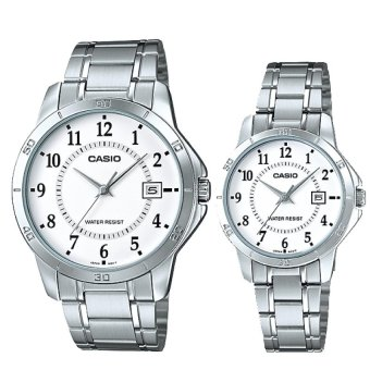 Harga Casio Couple Stainless Steel Watch LTPV004D-7B MTPV004D-7B