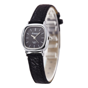 Luxury Watch Women Quartz Casual Thin Leather Strap Square Watch - intl