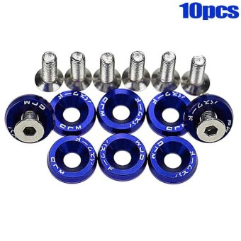 Harga PAlight 10PCS Car Screws Washers Accessory JDM Fender Bumper Washers Lisence Plate Bolts Kits for CIVIC ACCORD - intl