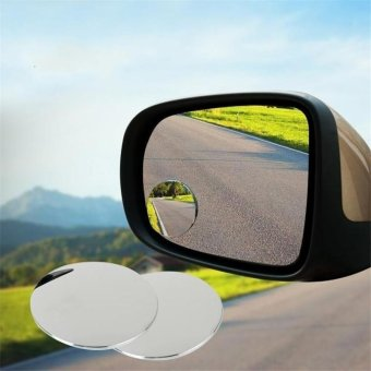 Harga Rorychen 1Pair Auto Side 360 Wide Angle Round Convex Mirror Car Vehicle Blind Spot Dead Zone Mirror RearView Mirror Small Round Mirror - intl
