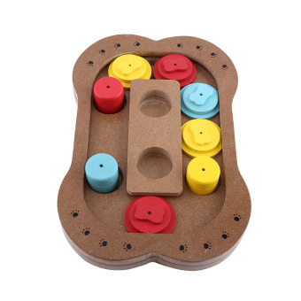 Harga Multi-functional Food Treated Wooden Puzzle Toys Interactive Toys For Pet - intl