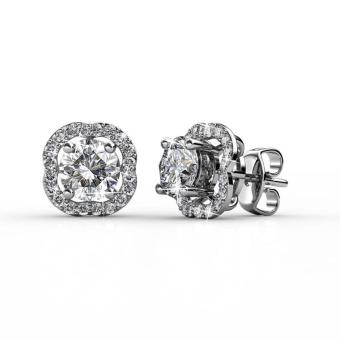 Harga Royal Clover Stud Earrings - Crystals from Swarovski®