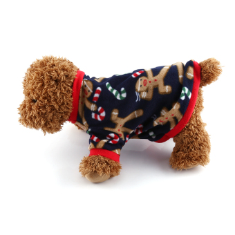Harga Pet Shirt Puppy Dog Fleece Sweater Cute Puppies Cold Weather Coat Clothes Apparel (Navy Blue M) - intl