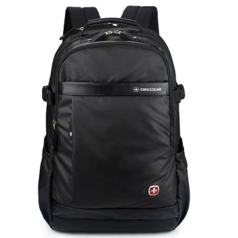 "New Brand SWISSGEAR Waterproof 15"" Laptop SWISS Men and Women Backpack Computer Notebook Bag Black - Intl"