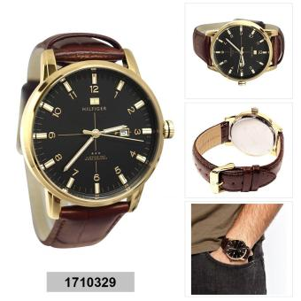 Harga Tommy Hilfiger Watch George Brown Stainless-Steel Case Leather Strap Mens NWT + Warranty 1710329