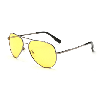 Harga Sunglasses Men Pilot Sun Glasses Yellow Color Brand Design
