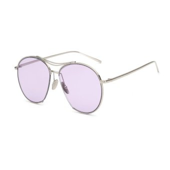 Harga Sunglasses Women Irregular Purple Color Polaroid Lens Titanium Frame Driver Sunglasses Brand Design Original Box Women Oculos
