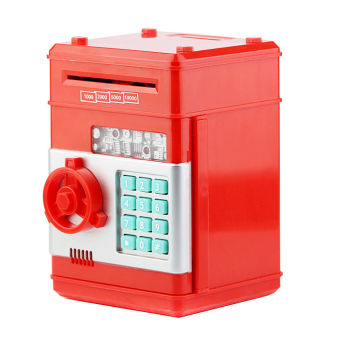 Harga Automatic Money Roll in Coin Bank / Piggy Bank / Safe box (Red)