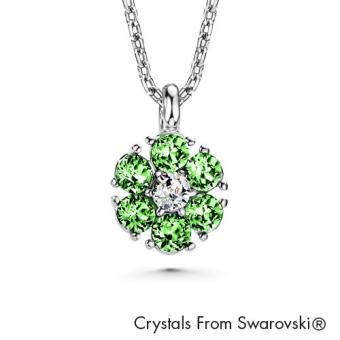 Birthstone Flower Pendant August (Peridot) Crystals from Swarovski®