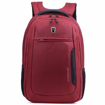 Harga Tigernu Waterproof Four-tooth Zipper Nylon Material Business Travel Casual Laptop Bag Backpack for 10.1-15.6 Inches laptop (Red) - Intl