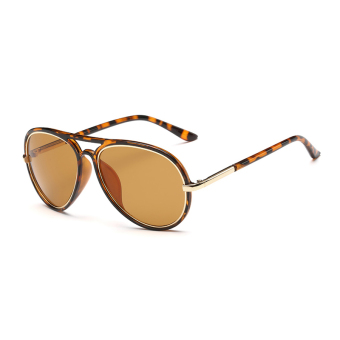 Harga Sunglasses Men Pilot Sun Glasses Leopard Color Brand Design