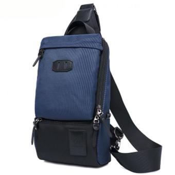 YINGGG Laptop Bag Shoulder Bag Message Bag Waterproof Chest Bag Waist Bag Sling Bag Tote Bag-Blue - intl