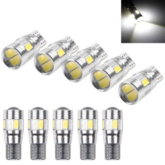 10pcs T10 501 194 W5W 5630 LED SMD Car HID Canbus Error Free Wedge Light Bulb Lamp - intl