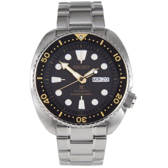 Harga Seiko Prospex Turtle Automatic Divers 200M Men's Stainless Steel Strap Watch SRP775K1