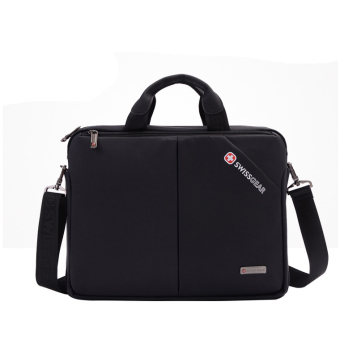 SwissGear SA1108 Model Unisex Leisure Travel Business Outdoor One-Shoulder Laptop Bag Handbag (Black)