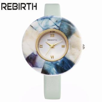 Harga REBIRTH Ladies Luxury Ceramic Marble Watches Women Quartz Wristwatches Relogio Feminino Female Clock leather Thin Strap Gifts
